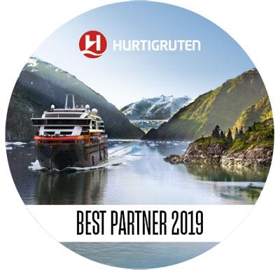 Auszeichnung als Best-Partner von Hurtigruten